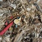 Een eiland gevormd door plastic afval in zee, Plastic Soep