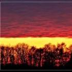 Kleuren in de lucht voorspellen het weer