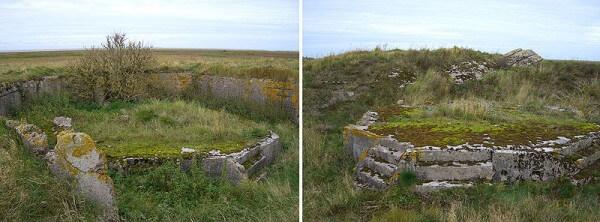 Remains of the anti-aircraft guns / Source: De: Benutzer: Uenue auf Wikipedia de, hochgeladen von AxelHH, Wikimedia Commons (Public domain)